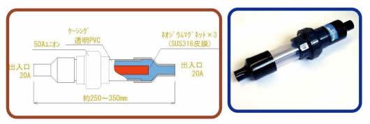 永久磁石内装式活水器